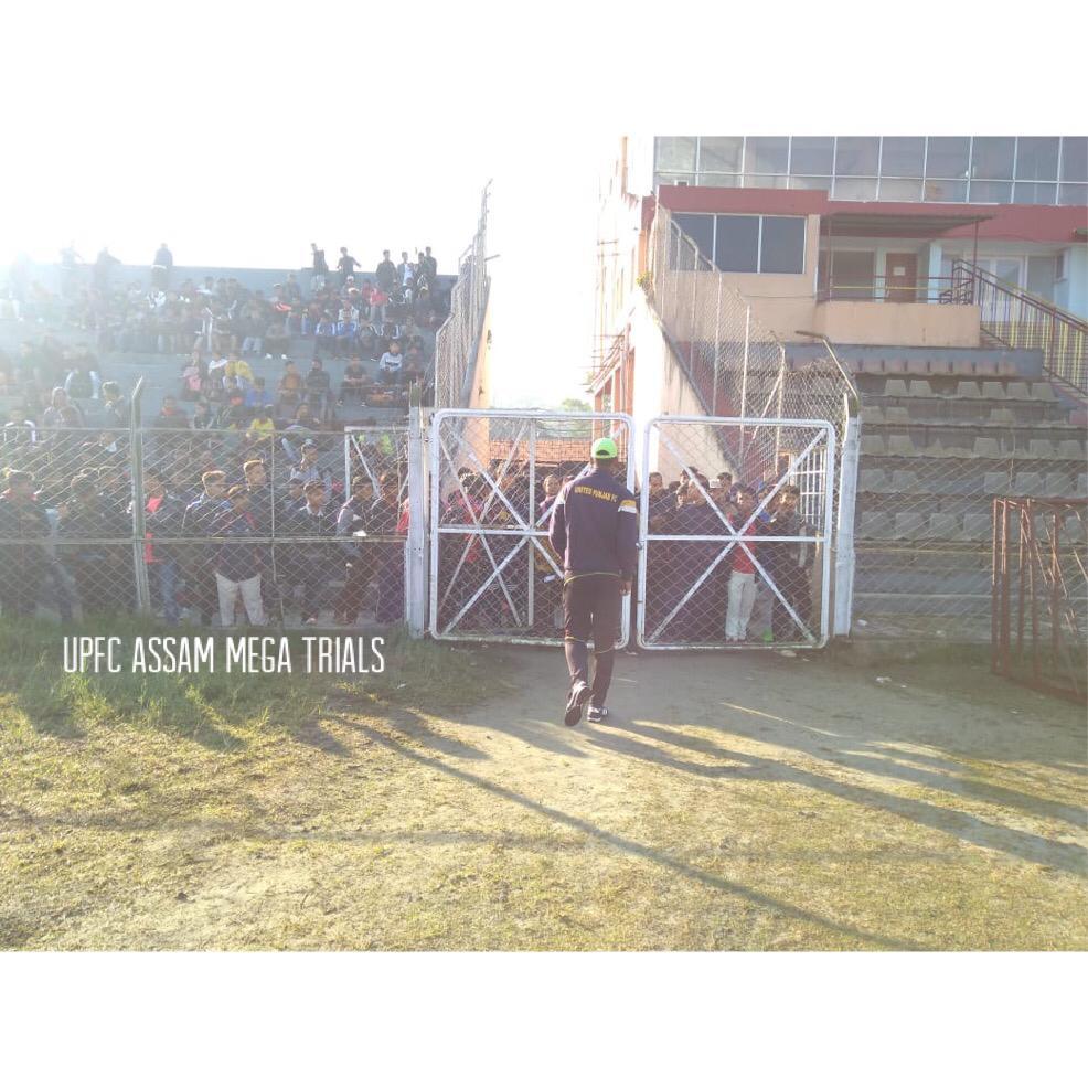 united-punjab-fc-conducted-football-mega-trials-in-nehru-stadium-guwahati-assam